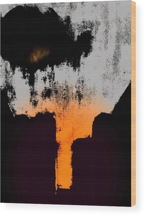 Abstract Wood Print featuring the digital art Echo by Joseph Ferguson