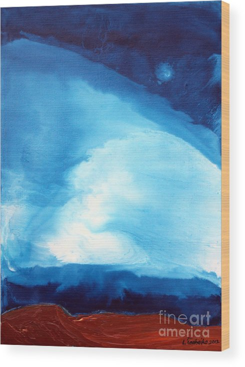 Maine Wood Print featuring the painting Loyalty of the Mind 7 by Laura Tasheiko