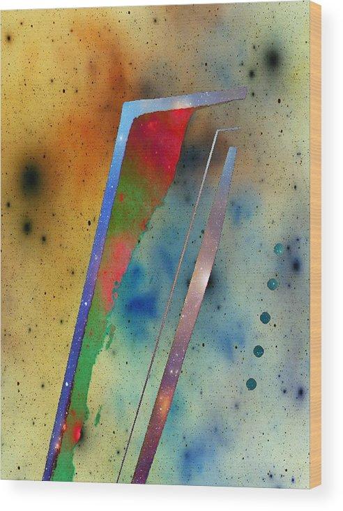 Spacescape Wood Print featuring the digital art Spacescape 30 by Joseph Ferguson