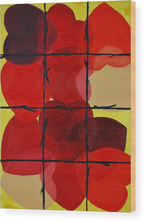 Love Wood Print featuring the painting Love No Categories Please by Charla Van Vlack