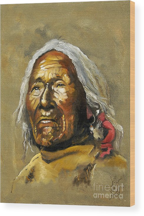 Southwest Art Wood Print featuring the painting Painted sands of time by J W Baker