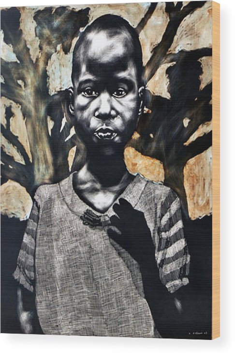 Wood Print featuring the mixed media 1962 by Chester Elmore