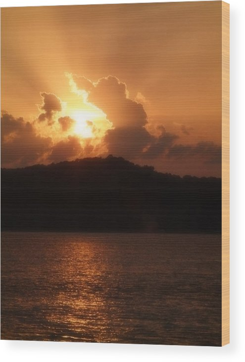 Sunset Wood Print featuring the photograph Amber Sun by Carl Perry