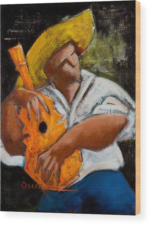 Puerto Rico Wood Print featuring the painting Bravado Alla Prima by Oscar Ortiz
