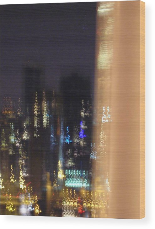 City Wood Print featuring the photograph City Flames by Peter Mowry