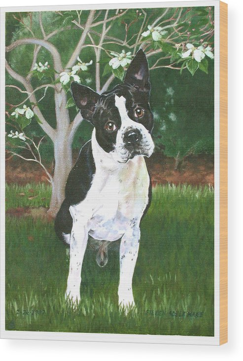 Portrait Wood Print featuring the painting Ditto by Eileen Hale
