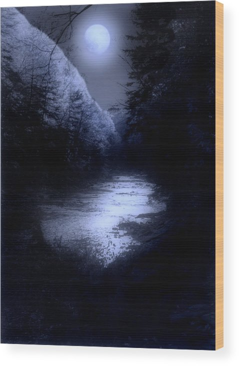Moon Wood Print featuring the photograph Eerie Tranquility by Kenneth Krolikowski