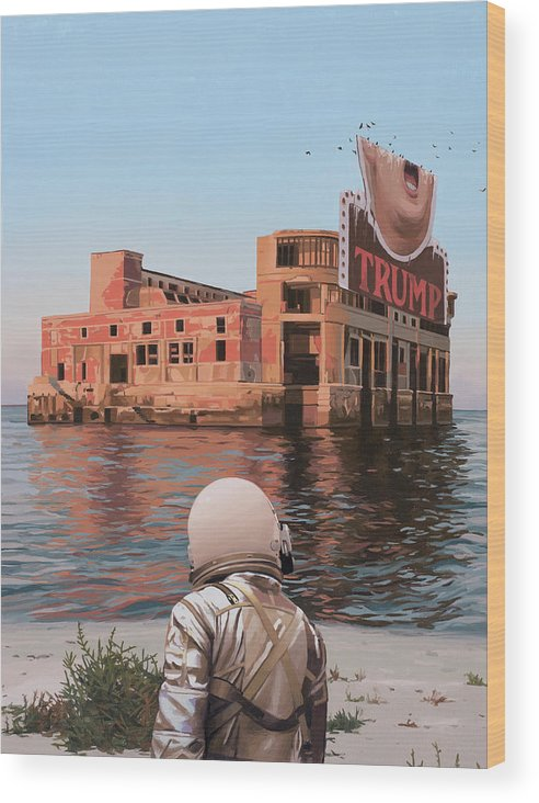 Astronaut Wood Print featuring the painting Empty Palace by Scott Listfield