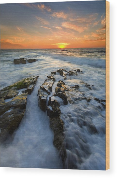 Sunset Wood Print featuring the photograph Engulfed by Mike Dawson