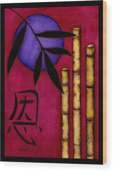 Bamboo Wood Print featuring the painting Grace - The Art of Balance by Stephanie Jolley