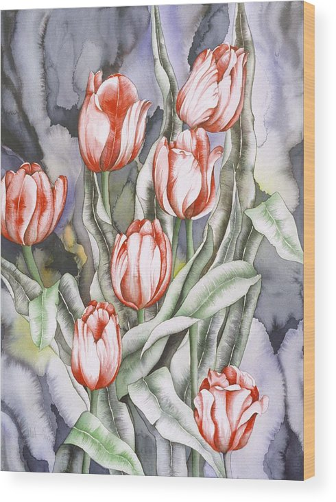 Flower Wood Print featuring the painting Home Sweet Home by Liduine Bekman