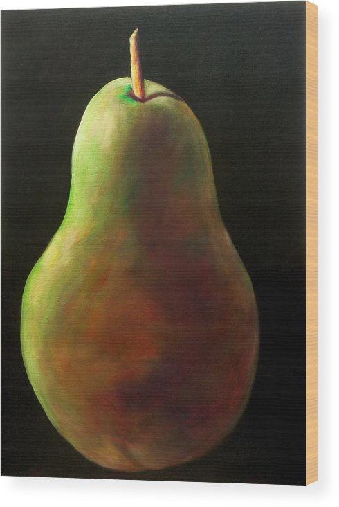 Pear Wood Print featuring the painting Jan by Shannon Grissom