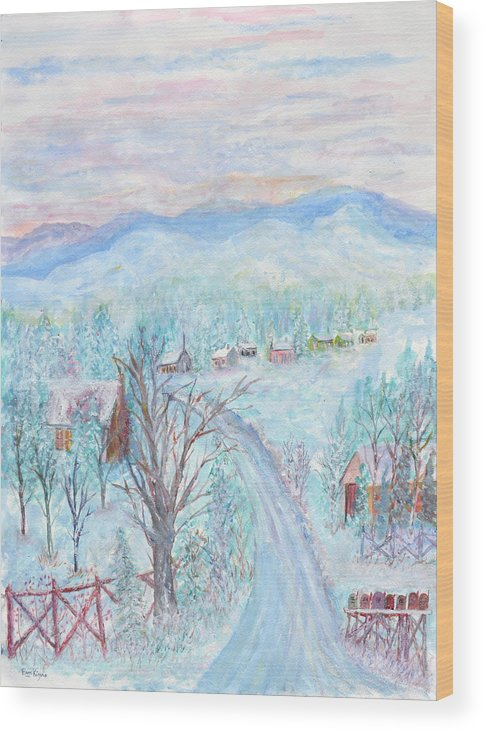 Winter Wood Print featuring the painting Joy of Winter by Ben Kiger
