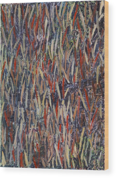 Abstract Landscape Aboriginal Australia Wood Print featuring the painting KimberlyLove by Joan De Bot