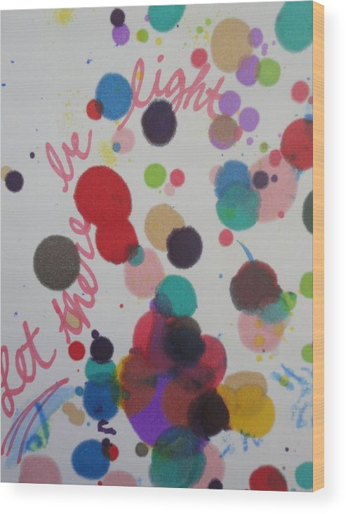 Light Wood Print featuring the painting Let There Be Light by Vonda Drees
