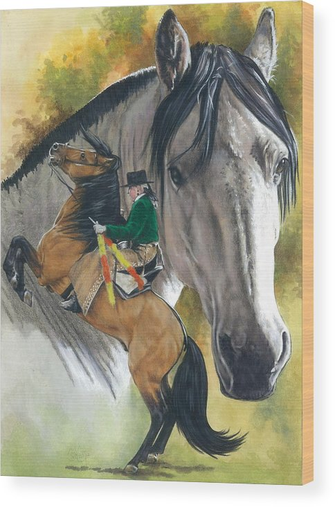 Hoof Stock Wood Print featuring the mixed media Lusitano by Barbara Keith
