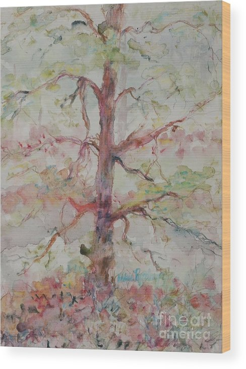 Forest Wood Print featuring the painting Pastel Forest by Nadine Rippelmeyer