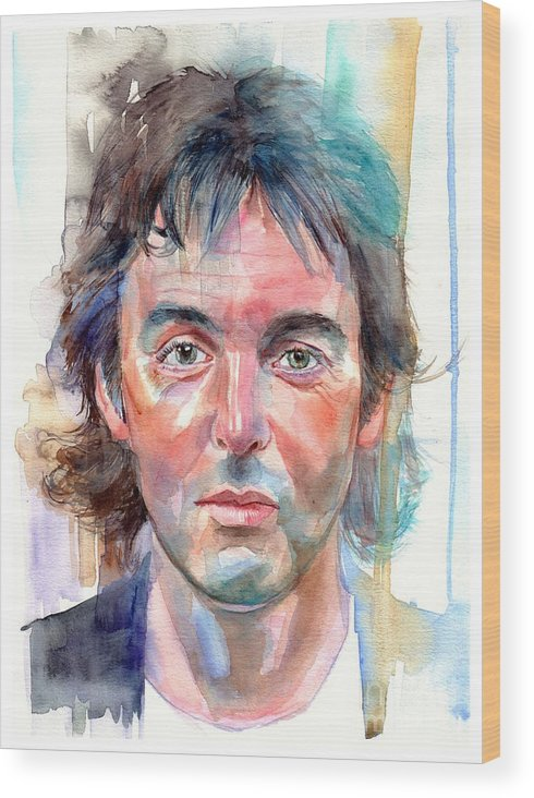 Paul Wood Print featuring the painting Paul McCartney young portrait by Suzann Sines