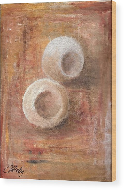 Still Life Wood Print featuring the painting Potpourri 1 by Vi Mosley