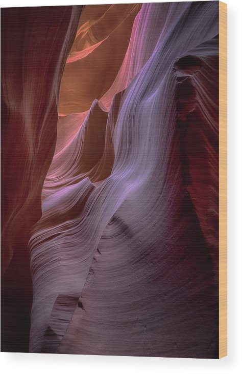 Slot Canyons Wood Print featuring the photograph Sandstone Waterfalls by Rob Wilson