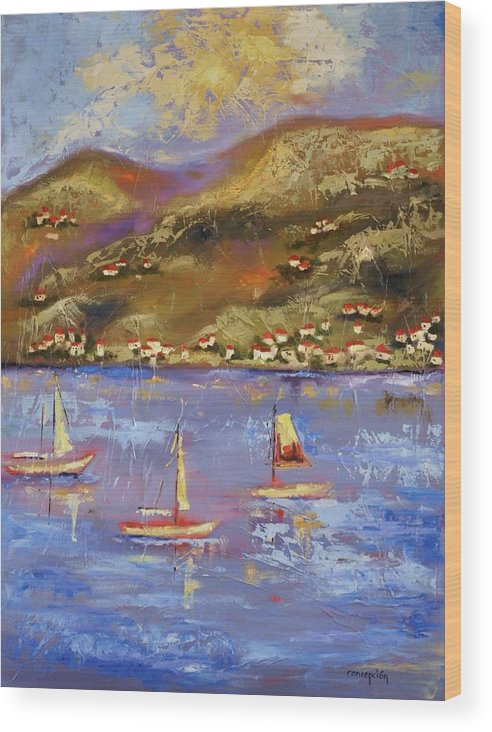 St. John Wood Print featuring the painting St. John USVI by Ginger Concepcion