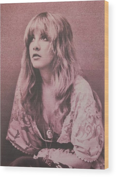 Stevie Nicks Wood Print featuring the photograph Stevie Nicks by Donna Wilson