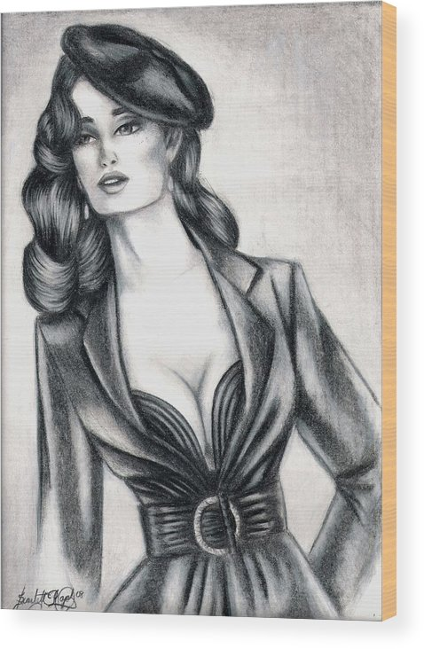 Colore Pencil Wood Print featuring the drawing Style by Scarlett Royal