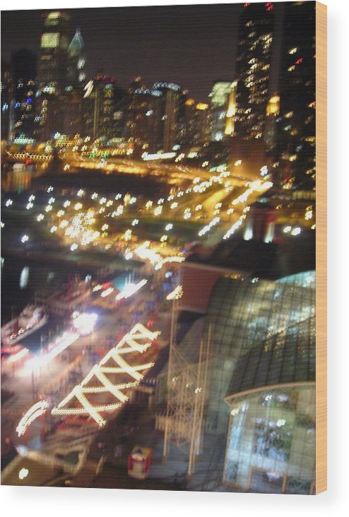 Chicago Wood Print featuring the photograph The Fast Lane by Peter Mowry