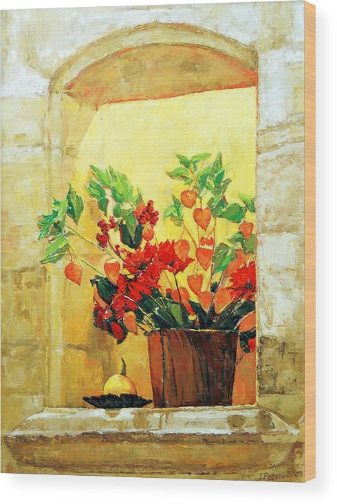 Still Life Wood Print featuring the painting The light by Iliyan Bozhanov