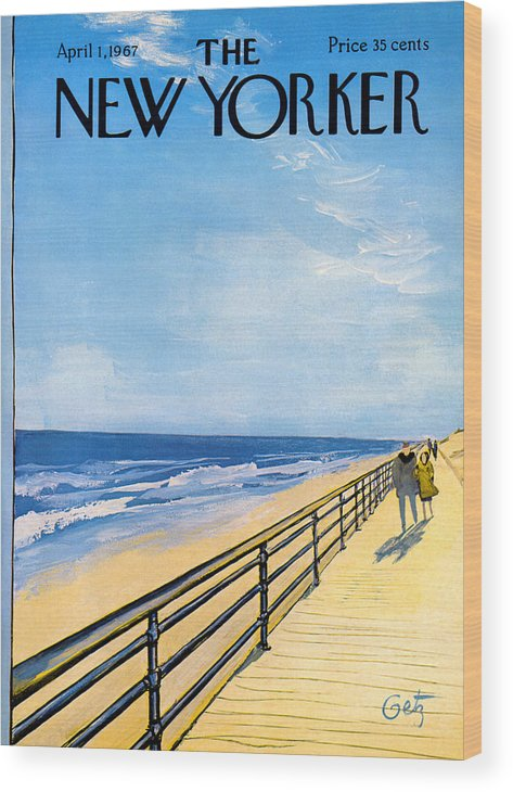 Arthur Wood Print featuring the painting The New Yorker Cover - April 1st, 1967 by Arthur Getz