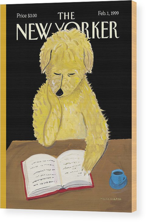 Animals Wood Print featuring the photograph The New Yorker Cover - February 1, 1999 by Maira Kalman