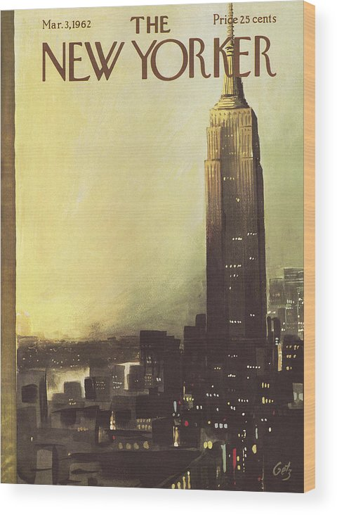 Arthur Wood Print featuring the painting The New Yorker Cover - March 3rd, 1962 by Arthur Getz