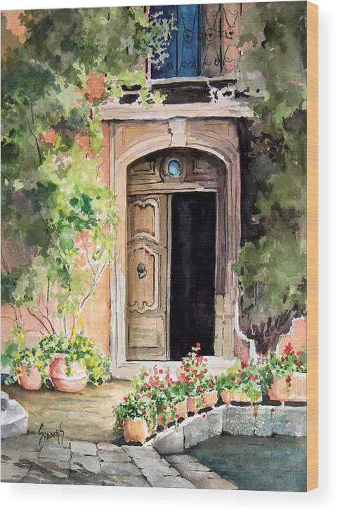 Door Wood Print featuring the painting The Open Door by Sam Sidders