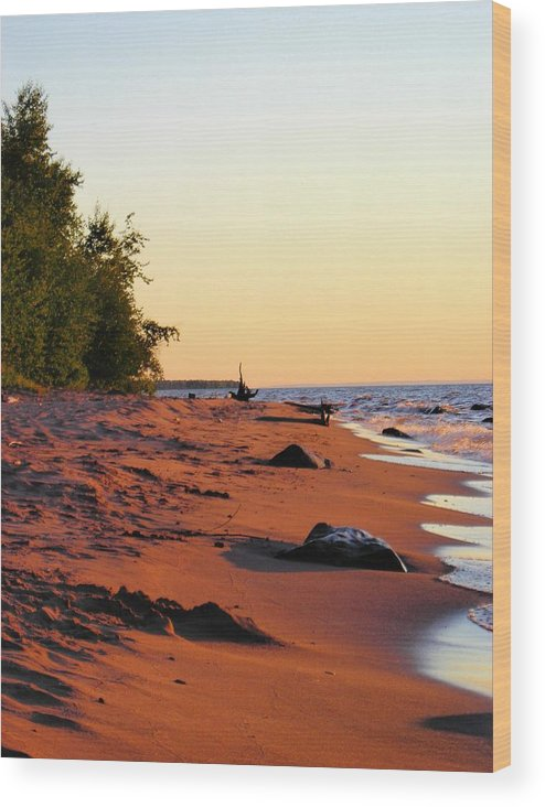 Beach Wood Print featuring the photograph The Sands of Dusk by Peter Mowry