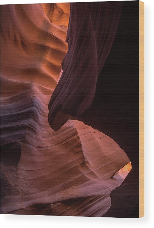 Antelope Canyon Wood Print featuring the photograph The Sphinx by Rob Wilson