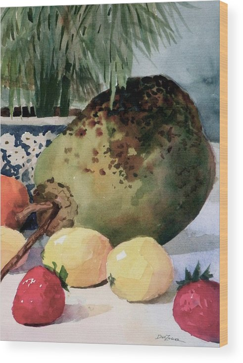 Cocoanut Wood Print featuring the painting Tropical Fruit by Faye Ziegler