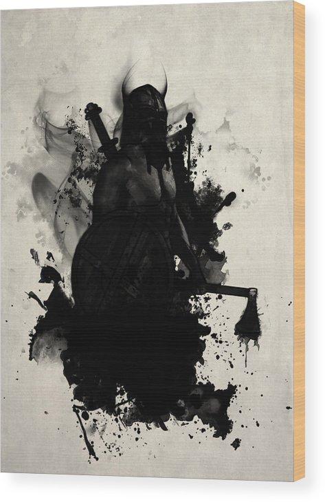 Viking Wood Print featuring the digital art Viking by Nicklas Gustafsson