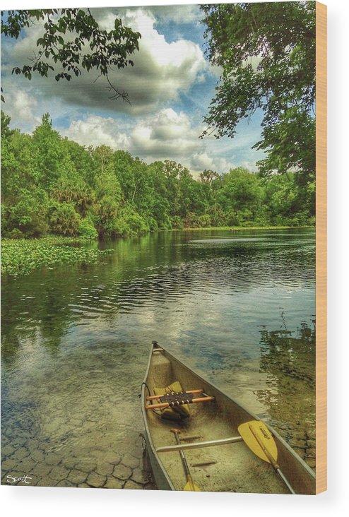 Florida Wood Print featuring the digital art Wakiva Springs by Scott Waters