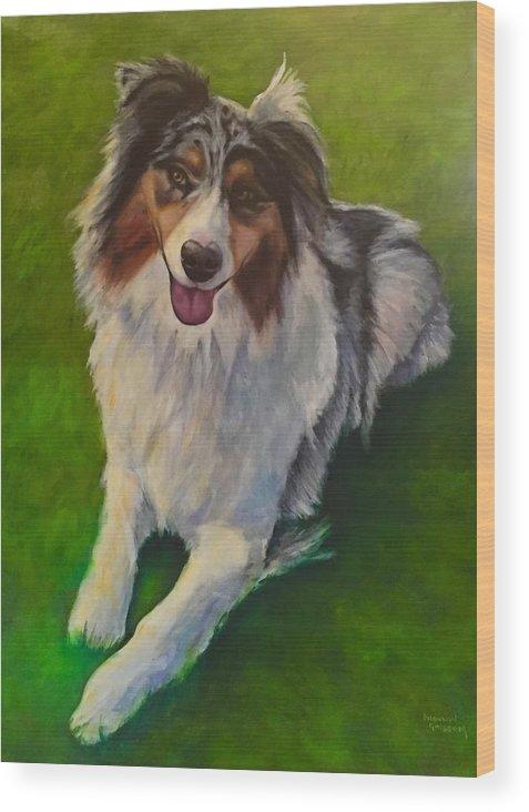 Yuki Wood Print featuring the painting Yuki by Shannon Grissom