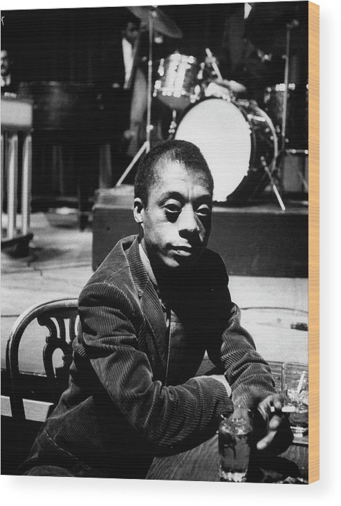 Timeincown Wood Print featuring the photograph James Baldwin by Carl Mydans