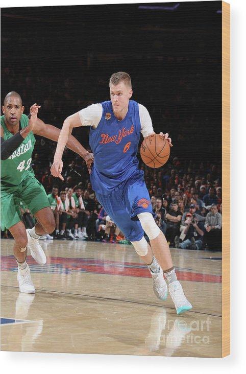 Nba Pro Basketball Wood Print featuring the photograph Boston Celtics V New York Knicks by Nathaniel S. Butler