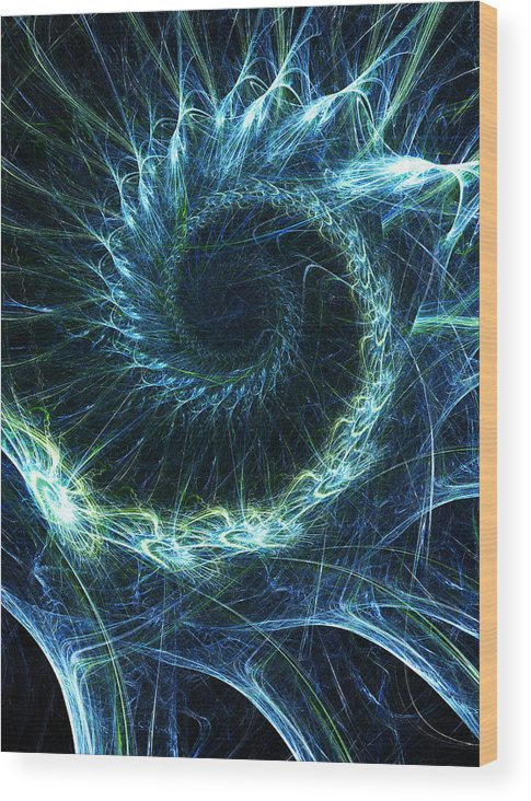Curve Wood Print featuring the photograph Abstract Swirl Pattern by Duncan1890