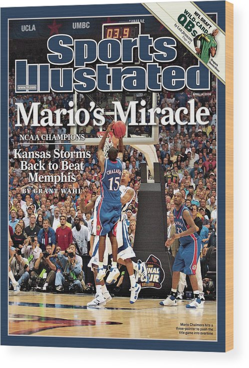 Magazine Cover Wood Print featuring the photograph April 14, 2008 Sports Illustrate Sports Illustrated Cover by Sports Illustrated