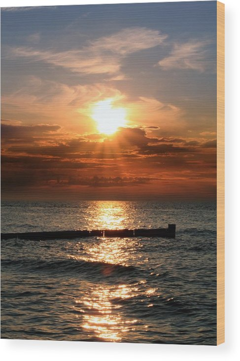 Tranquility Wood Print featuring the photograph Baltic Sunset by © Jan Zwilling