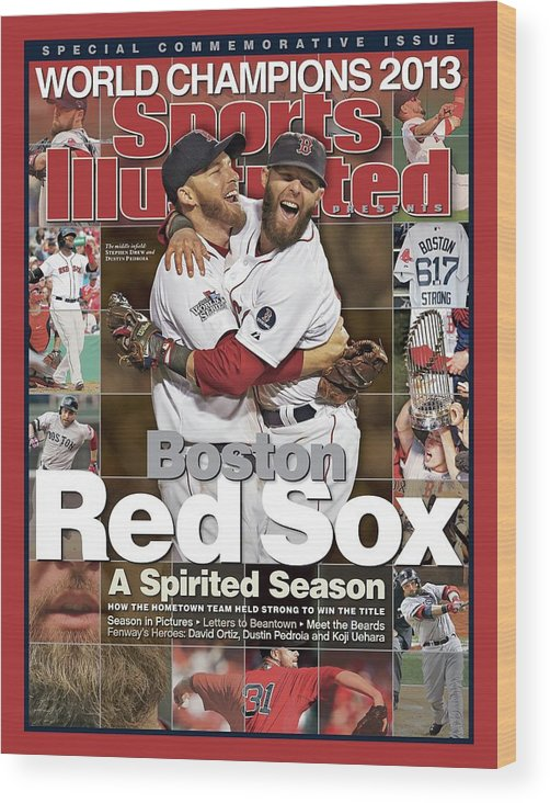 St. Louis Cardinals Wood Print featuring the photograph Boston Red Sox, World Champions 2013 A Spirited Season Sports Illustrated Cover by Sports Illustrated