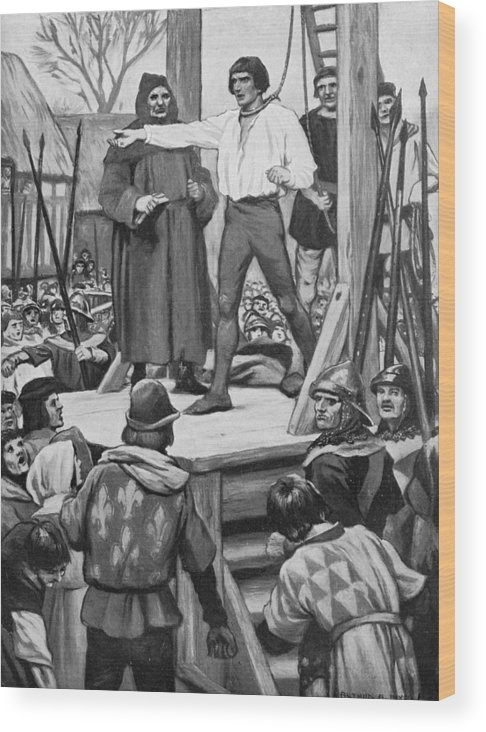 Royalty Wood Print featuring the photograph Execution Of Warbeck by Hulton Archive