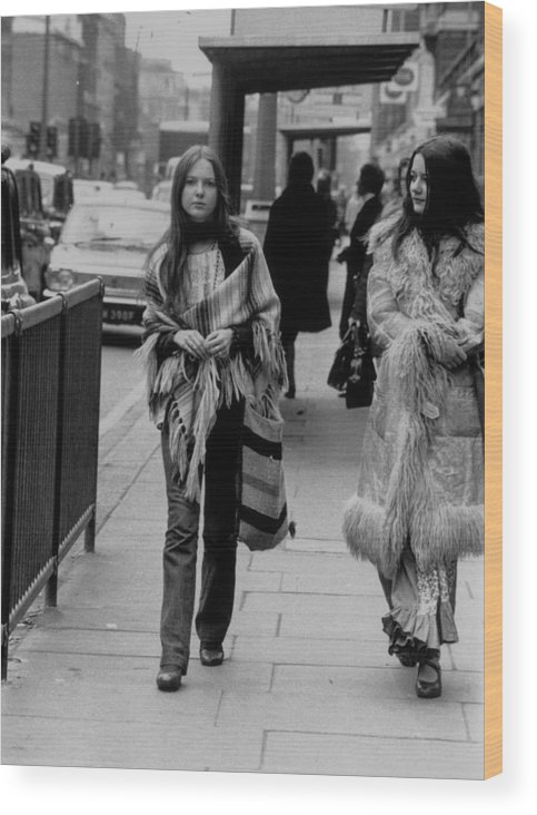 People Wood Print featuring the photograph Hippy Fashion by Evening Standard