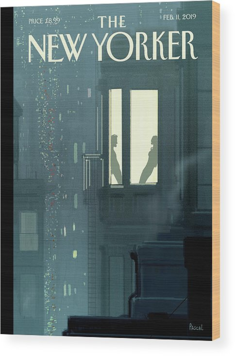 Love Interest Wood Print featuring the painting Love Interest by Pascal Campion