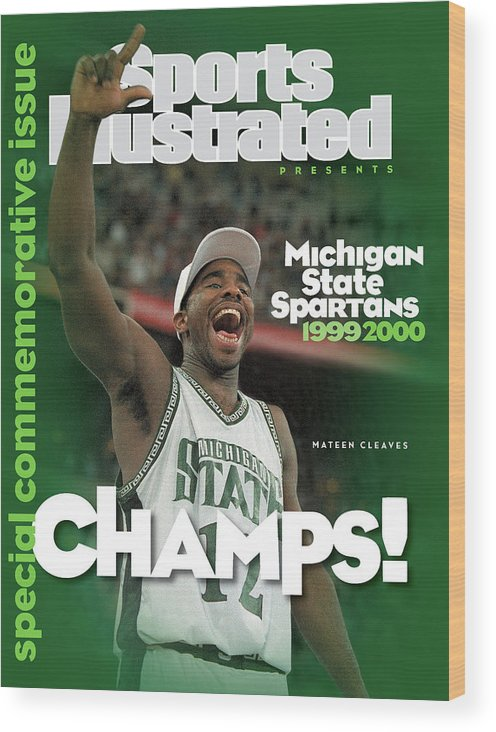 Michigan State University Wood Print featuring the photograph Michigan State University Mateen Cleaves, 2000 Ncaa Sports Illustrated Cover by Sports Illustrated