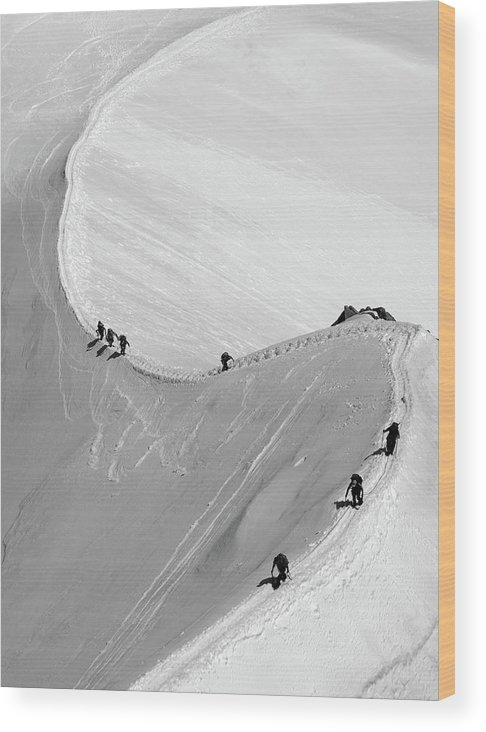 Scenics Wood Print featuring the photograph Mont Blanc by Yanis Ourabah